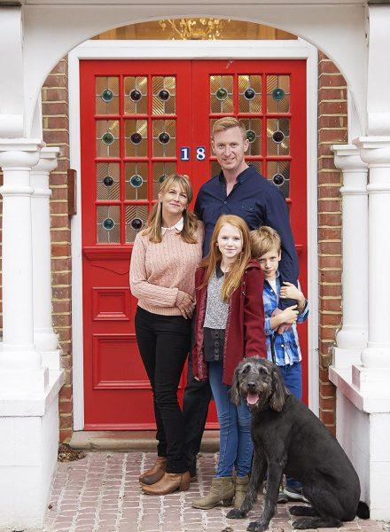 Highgate family on doorstep with dog
